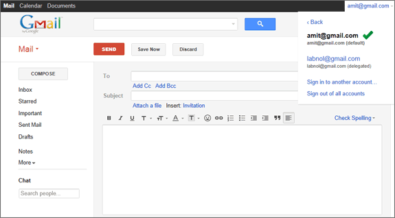 Log In to Multiple Gmail Accounts Automatically