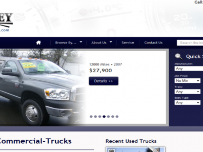 Cooley Commercial Trucks Website