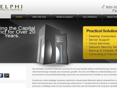 Delphi Tech Services Website